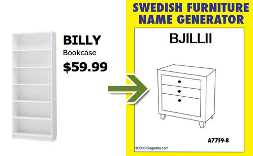 Hen If You Put In The Name Billy Which Already Hens To Be Of An Ikea Bookcase It Still Generates Even More Swede Tacular