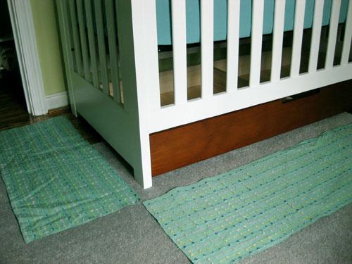 Nursery Progress How To Make A No Sew Crib Skirt Young