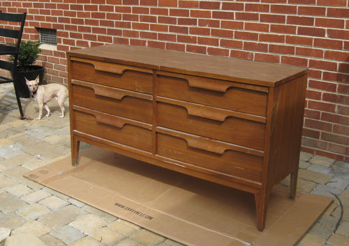 Nursery Progress How To Refinish A Veneer Dresser Young