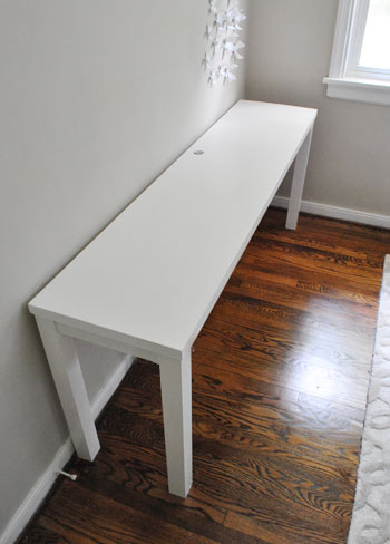 I Realize It S A Bit Hard To Get Excited About Plain White Table But We Were Pretty Pumped Back When Finished This Project Yes Is Something