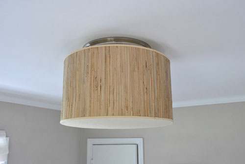 99902b2a3eb2 a light with texture, charm, and loads of presence thanks to the oversized  proportion. We just love giant shades in small rooms (like this 12 x 12.5′  space) ...