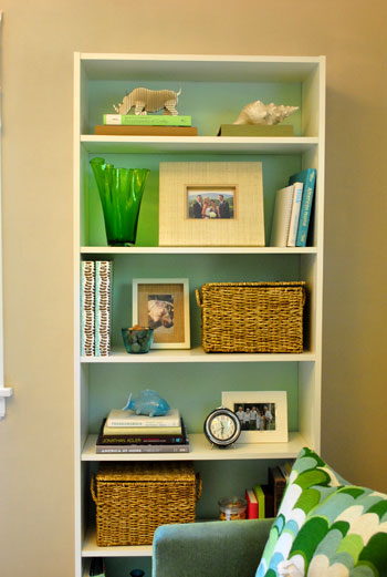 Making An Ikea Bookcase Look Built In Painting The Back