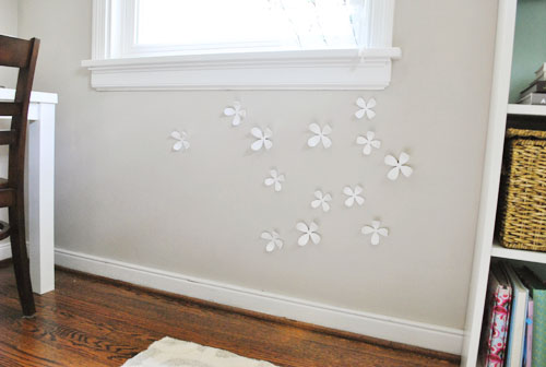 Using Magnetic Paint To Make A New Home For Our 3d Wallflowers Young House Love