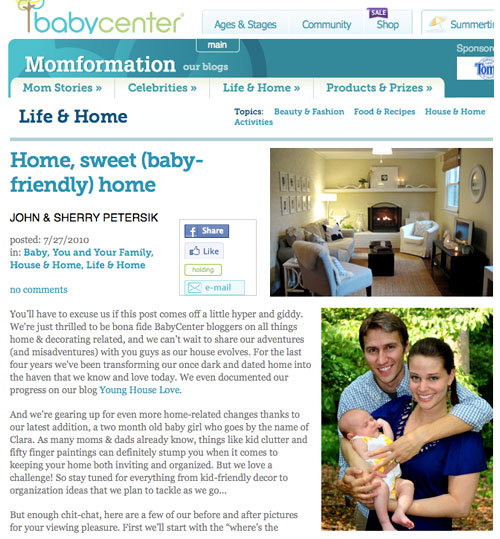 17c5ac41bfcbe Oh Baby, We've Got A New Gig At BabyCenter | Young House Love