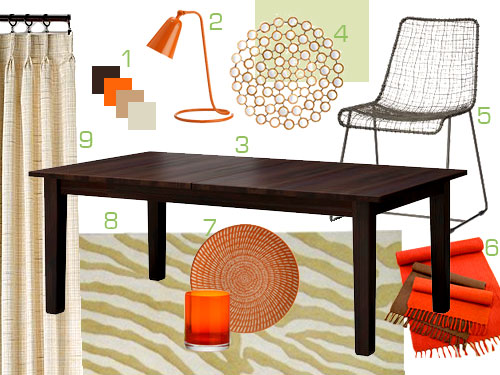 Mood Board Making An Orange Brown And Tan Dining Room Young