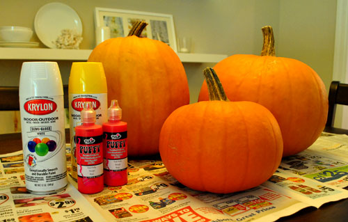 Making Puffy Paint Pumpkins They Re Not As Cheesy It Sounds Young House Love