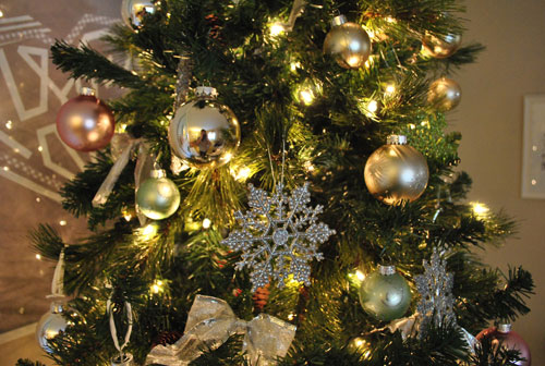 Holiday Decor Our Green Pink And Metallic Christmas Tree