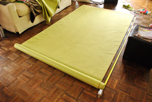 Making No Sew Bedroom Curtains With Fabric And Hem Tape