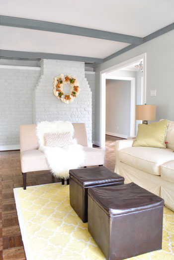 We Painted The Wood Trim In Our Living Room