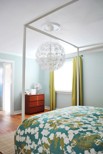 Awesome Hanging An Ikea Maskros Light In Our Bedroom Young House Love Home Remodeling Inspirations Genioncuboardxyz