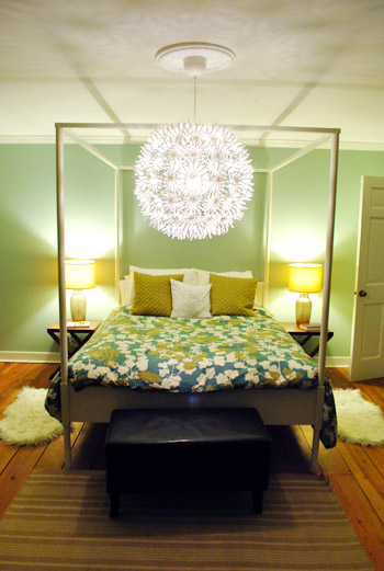 new arrival 4284b d77c4 Hanging An Ikea Maskros Light In Our Bedroom | Young House Love