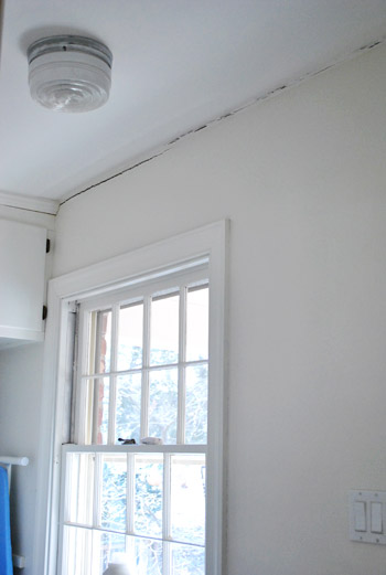 cracks in plaster ceiling and walls