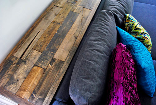 Wood Console Table Top With Distressed Rustic Look
