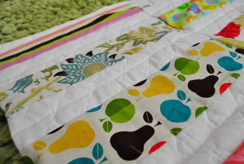 24.5 x 19 Hand Sewn Patchwork Baby Quilt