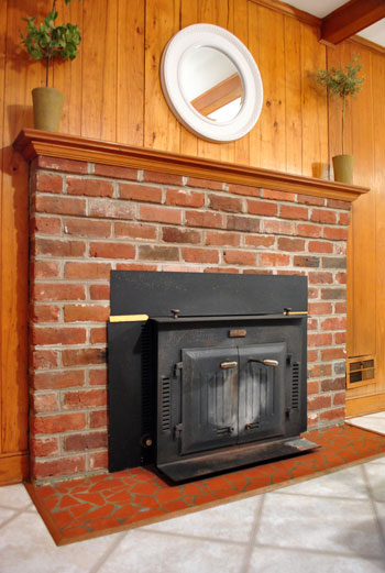 The Beginning Of A Fireplace Makeover Removing Woodstove Insert Young House Love