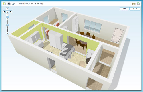Online Tools for Planning A Space in 3D