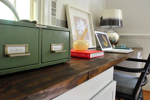 Peachy How To Make A Planked Wood Desktop Counter Young House Love Best Image Libraries Sapebelowcountryjoecom