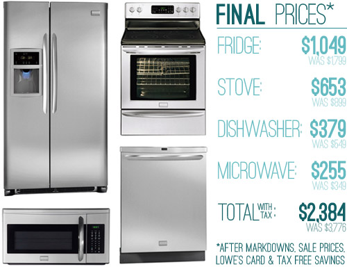 How We Saved Money 63 Off On Our Kitchen Appliances Young House Love