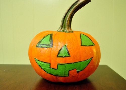 Four No Cut Pumpkin Decorating Ideas For Kids Young House Love