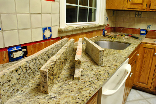 Kitchen Reno Removing Our Sink Old Granite Counters Young House Love