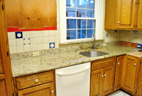 Kitchen Reno Removing Our Sink Old Granite Counters