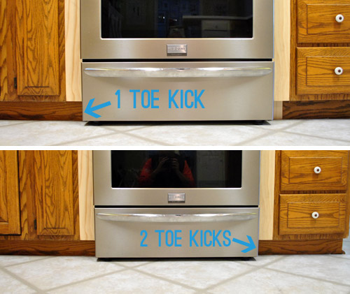 Cabinet Toe Kick Installation