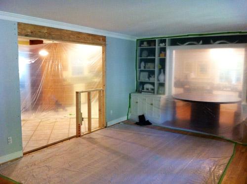 Internal Knock Through Between Kitchen And Dining Room: Wanna Be A Baller, Shot Caller, Drywaller (Hanging Drywall