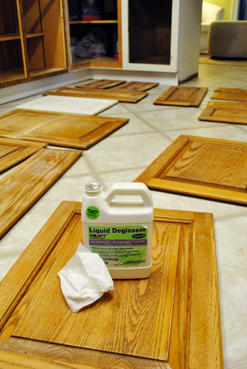 liquid sandpaper kitchen cabinets prepping cabinets for paint sanding deglossing wood 22730