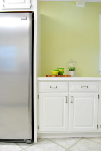 paint kitchen cabinet refrigerator built in
