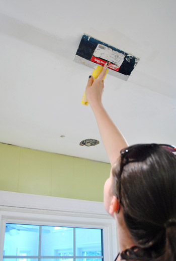 How To Patch And Spackle Ceiling Holes Young House Love