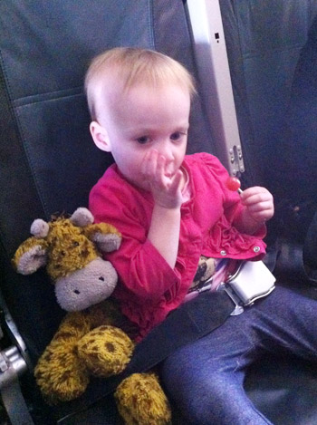 flying with toddler lollipop eating to help with ear popping