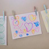 Hanging A Kid-Art Clothesline