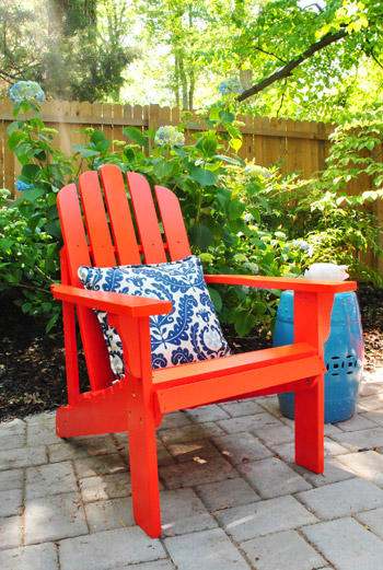 Groovy Adding Bright Red Adirondack Chairs To Our Side Patio Andrewgaddart Wooden Chair Designs For Living Room Andrewgaddartcom