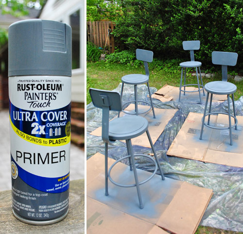 Groovy Spray Painting Metal Kitchen Stools A Happy Turquoise Color Forskolin Free Trial Chair Design Images Forskolin Free Trialorg