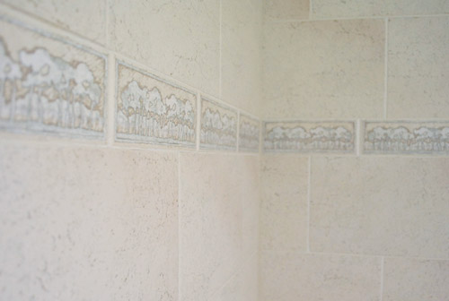 decorative glass block borders for a shower wall or windows.htm replacing old shower border tiles young house love  replacing old shower border tiles