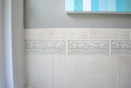 Removing An Old Shower Tile Border Young House Love
