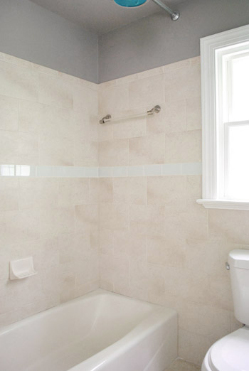 Replacing Old Shower Border Tiles Young House Love