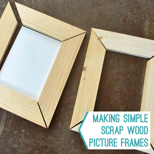 0e5a29e3616f ... some easy wood frames for her homemade artwork. We did it partially  because