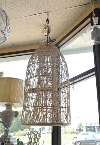 How To Turn A Basket Into A Pendant Light Young House Love