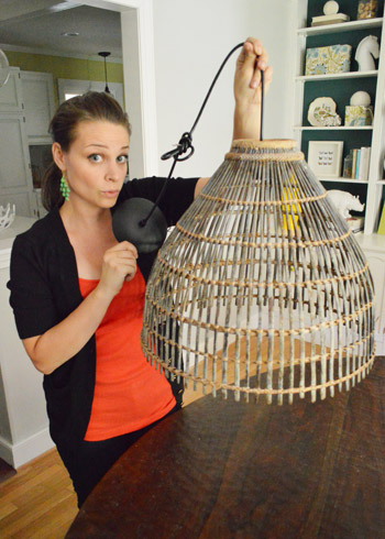 How To Turn A Basket Into Pendant Light Young House Love