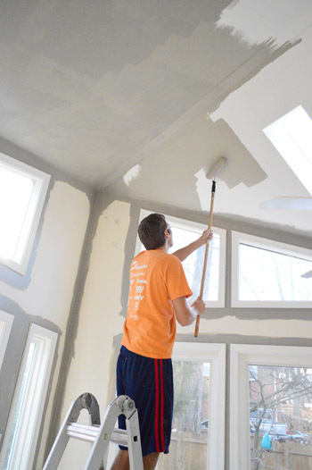 How To Paint Extra High Vaulted Ceilings