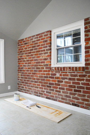 How To Paint A Brick Wall And Unify Choppy Room