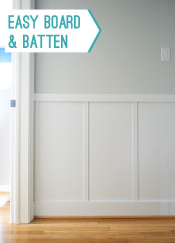 how to install easy DIY board and batten molding for added architectural interest