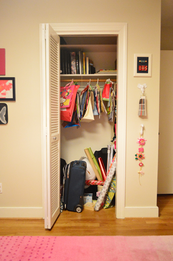 A Small Kids Closet That Doubles As Play E