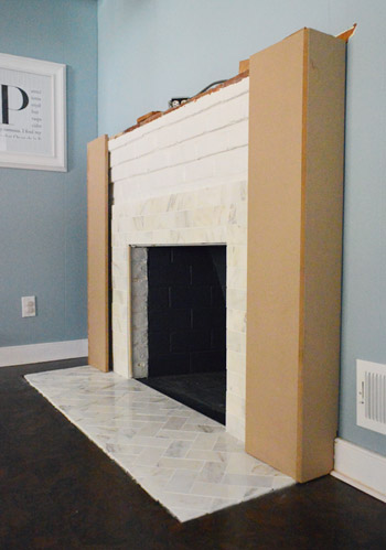 Our Fireplace Makeover Building A New Mantel Young House Love