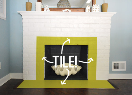 Fireplace Makeover Tiling The Mantel With Marble Herringbone