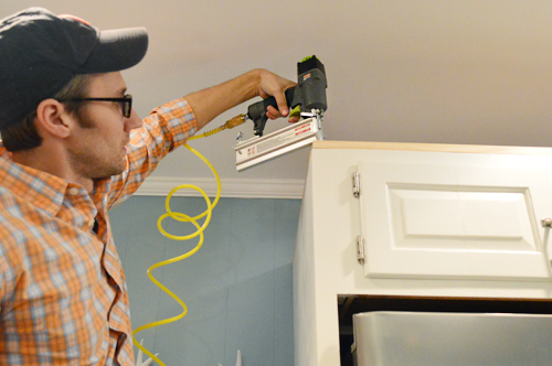 How To Add Crown Molding To The Top Of Your Cabinets ...