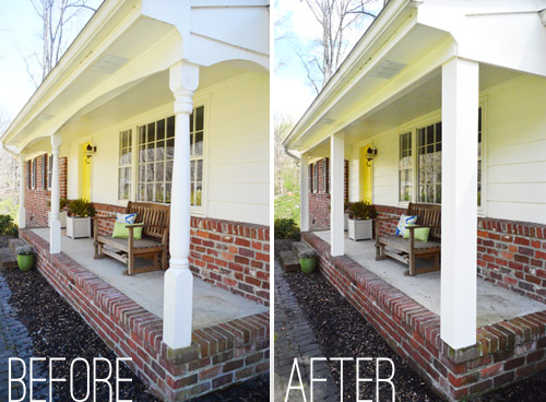 How We Boxed Out Our Old Curvy Porch Columns Young House