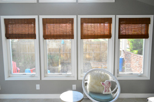 It S Gettin Hot In Hur So Add Some Bamboo Blinds Young House Love