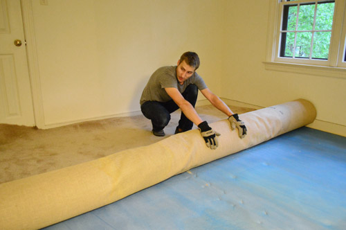 how to remove carpet rolling to remove